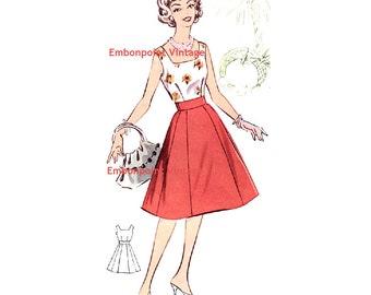 Plus Size (or any size) Vintage 1950s Dress Pattern - PDF - Pattern No 5: Deborah