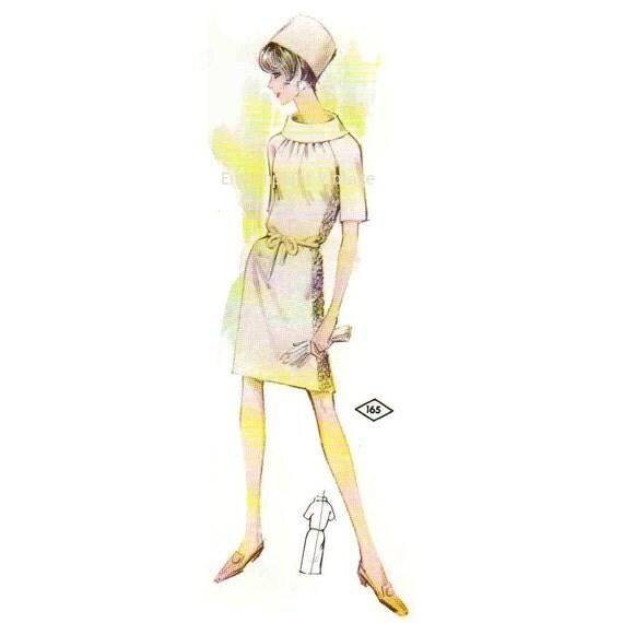 Plus Size (or any size) Vintage 1969 Dress Pattern - PDF - Pattern No 165 Rosalind
