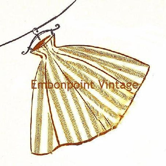 Plus Size (or any size) Vintage 1949 Skirt Sewing Pattern - PDF - Pattern No 53 Flora