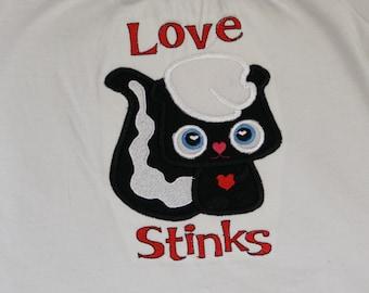Valentine's Day shirt or bodysuit- Love stinks