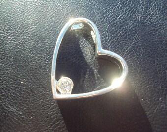 50% OFF SALE Heart Pendant Swarovski Crystal 1 Piece 30mm