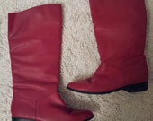 Vintage Red Boots, early 90's size 7