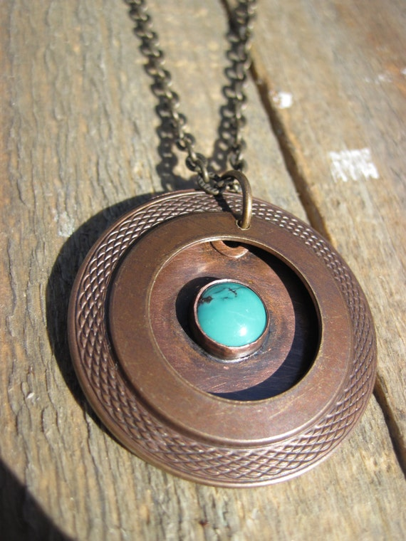 Turquoise Mixed Metal Necklace