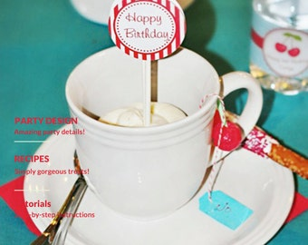 Cherry Tea Party Plan - Instant Download For A 30-page guide for creating this themed party for under one hundred dollars