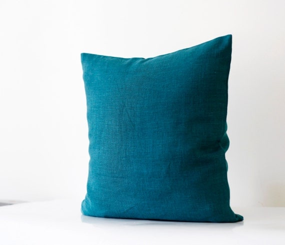 Teal Blue Throw Pillow : Teal blue pillow cover classic style decorative pillows case