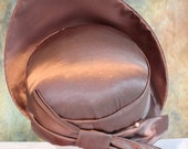 Gorgeous Vintage Mauve Taupe  Satin High Fashion Hat