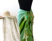 L/XL Hand Painted Finest Quality Faux Sarong Skirt