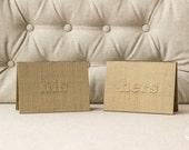 Vow Holder™ Wedding Gift - His & Her Wedding Vow Holder Keepsake - Silk Folio Wedding Vow Set