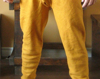 Medieval Celtic Viking Pants Hoses Chausses with Feet