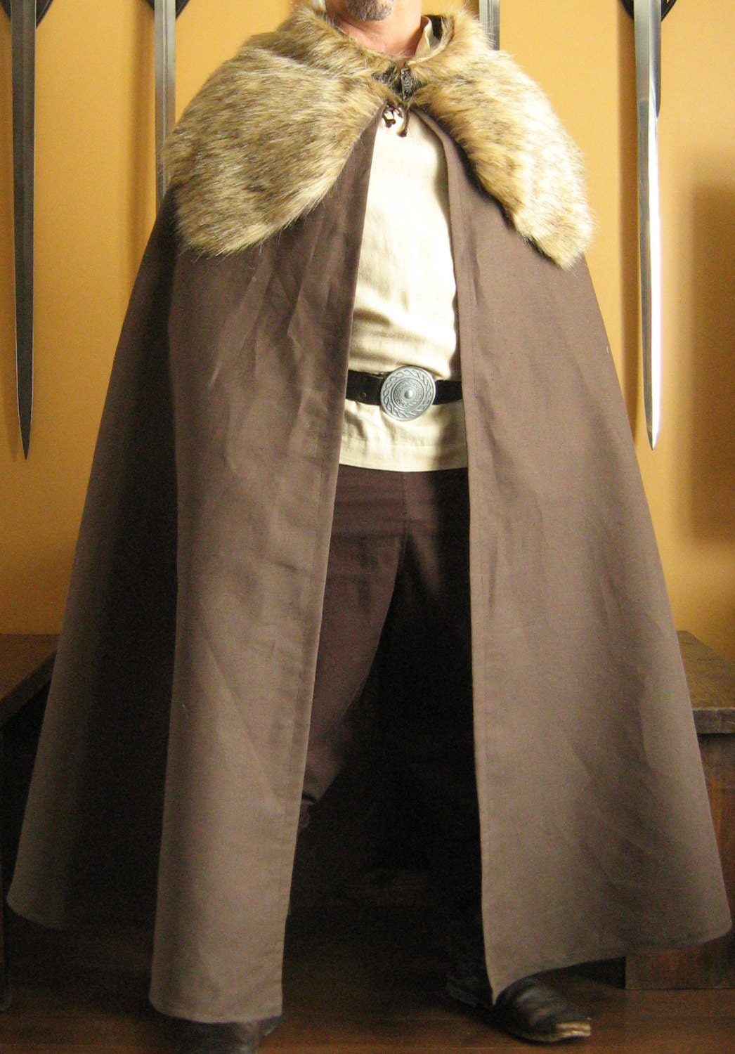 Medieval Celtic Viking Barbarian Style Cape By
