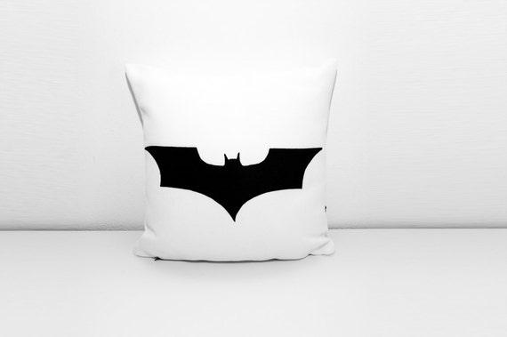 Batman Cushion Cover White And Black Dorm Pillow Decorative
