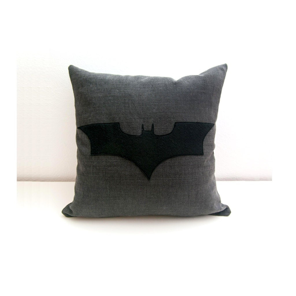 Decorative Pillow Black : Batman cushion cover grey and black decorative pillow nerd
