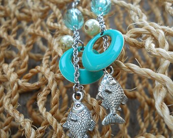Bubbly Turquoise Dangles