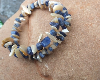 Mother of Pearl and Shells Bracelet