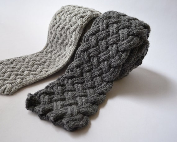 Knitting Expat Etsy : Items similar to causey flagstone two scarf knitting