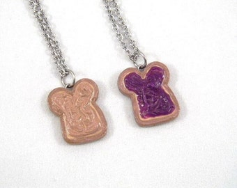 PB&J Friendship Necklaces, Peanut Butter and Grape Jelly