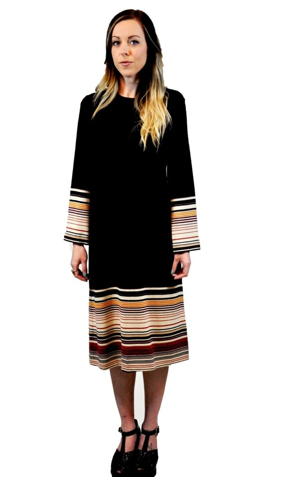 1970s Monet Striped Dress