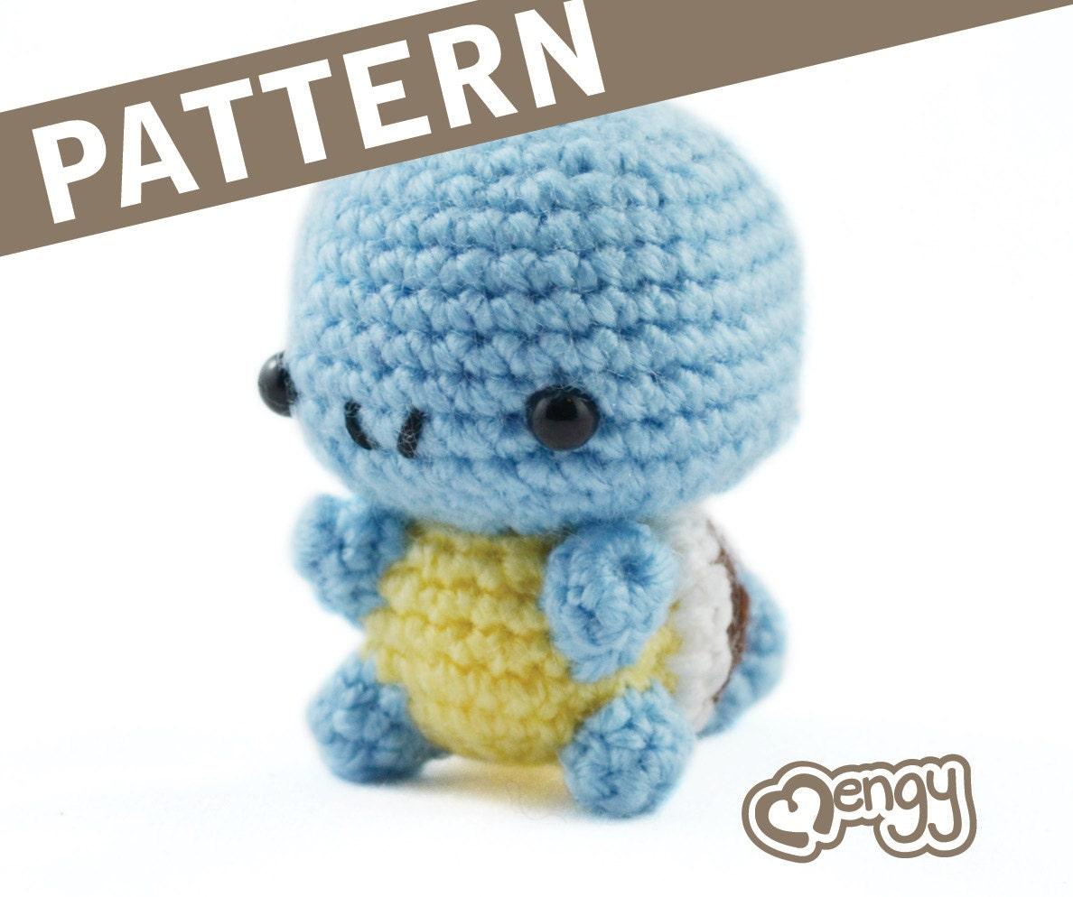 Amigurumi Patterns Pokemon : Water Turtle Crochet Amigurumi Pattern by mengy on Etsy