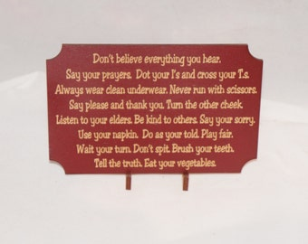 Small Plaque w Motivational Fun Saying, Don't Believe Everything You Hear... comes with easel, Perfect to send as Card