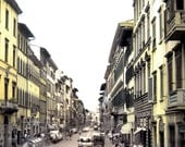Florentine Ochre - Florence, Italy - Yellow City Street Architecture Travel Photography Print 5x5