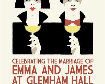 Art Deco customized wedding poster
