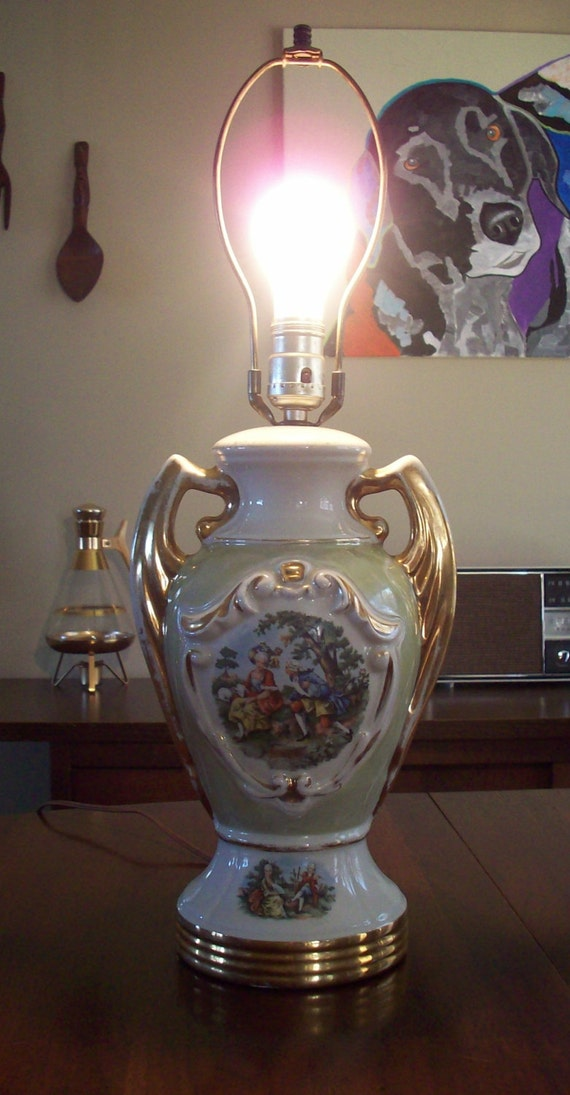 How do you value vintage porcelain table lamps?