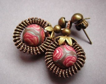 Jewelry Tutorial, Wire Wrapping Earrings Tutorial, Retro Wire Tutorial, Earrings Tutorial 11