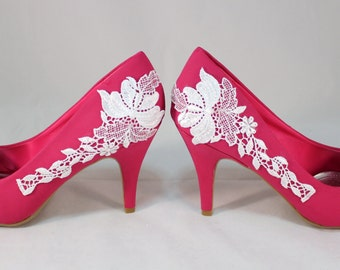Pink Lace Bridal Shoes