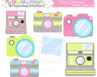 INSTANT DOWNLOAD, cute camera clip art, camera clipart, photography logo, for commercial use, etsy banners, marketing