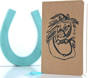 Horse Notebook, Mini Journal, Horse Party Favor, Horse Gift