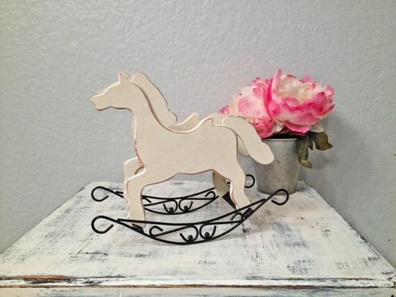 Vintage shabby chic rocking horse decoration