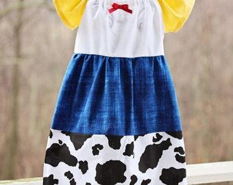 Jessie Dress Toy Story, Toy Story Dress, Jessie Costume, 18-24 Mo, 2T-5T, 5-7 Girls