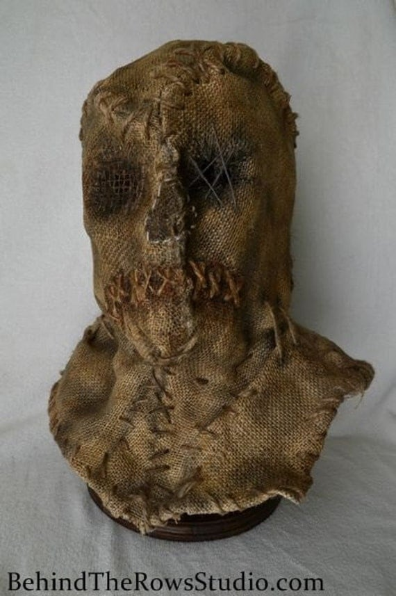 how to make a burlap sack mask