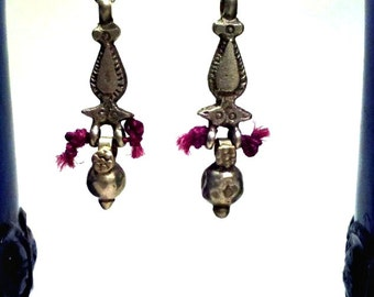 Orissa Bead Tribal Drop Earrings - Kuchi & Indian Ethnic Jewelry. OOAK