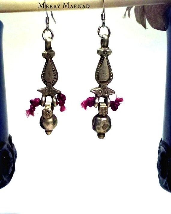 Orissa Bead Tribal Drop Earrings - Kuchi & Indian Ethnic Jewelry. OOAK