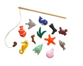 Fishing game Felt fishing game Magnetic fish game Big set fish game