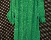 Vintage Saks Fifth Avenue Green and White Polka Dot Dress