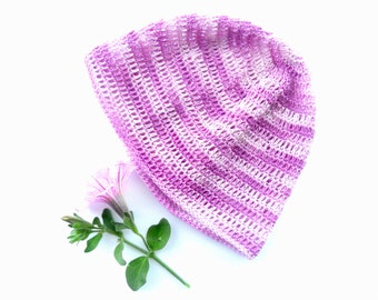Purple baby crochet hat Baby girl summer hat Baby summer accessory Baby girl headwear