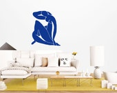 Wall Art inspired by Henri Matisse Blue Nude II vinyl wall decal (ID: 111004)