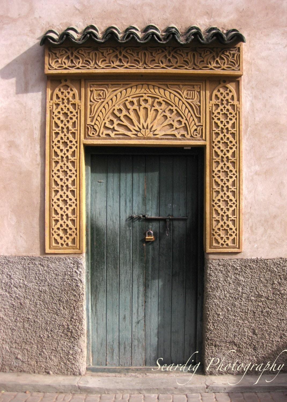 Moroccan Decor Teal Marrakech Morocco Door Moroccan Decor Photograph
