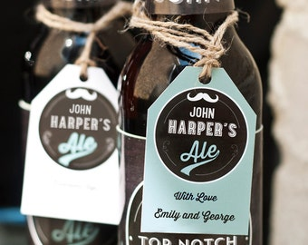 Personalised Printable Beer Bottle labels and Gift Tags