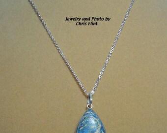 """Fascinating Hand-Painted Jasper set in Sterling Silver - 18"""" - N138"""