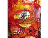 "Original Art, Encaustic Painting, Abstract Expressionism : ""Paris"" by Erica Vitalia"