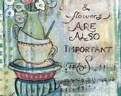 Coffee and flowers - Art Print 21 x 30 cm/ 8.3 x 11.8 in