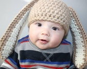 Floppy Eared Bunny Hat Easy Crochet PDF Pattern - Toddler, Child, & Youth sizes Sale- Buy 2 patterns, GET 1 FREE.
