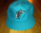 vintage florida marlins fitted new era size 7