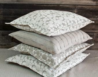 "Pure linen 18"" x 18"" DECORATIVE PILLOWS/ linen cushion covers/ linen pillow cases / linen throw pillows/ linen shams"