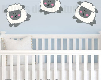 SHEEP Wall DECAL - Lambs Wall Decal - Nursery Wall Decal - Lambs Nursery Decal - Vinyl Wall Decals - Sheep Lamb stickers