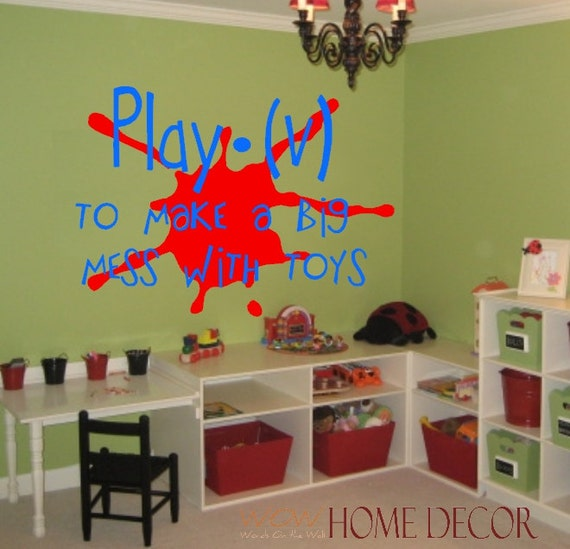 Wall Decoration Definition : Playroom vinyl wall art decal definition of play by