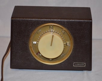 Vintage Working Colormaster Compass Inspired Antenna Rotator Lamp